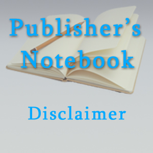 PublishersNotebook.com Disclaimer